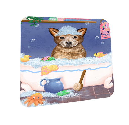 Rub A Dub Dog In A Tub Australian Cattle Dog Coasters Set of 4 CST57253