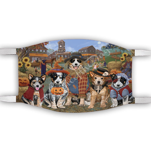 Halloween 'Round Town Australian Cattle Dogs Face Mask FM49919