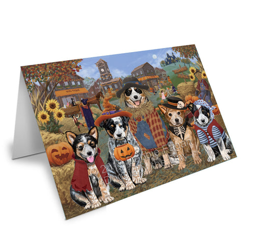 Halloween 'Round Town Australian Cattle Dogs Note Card NCD77735