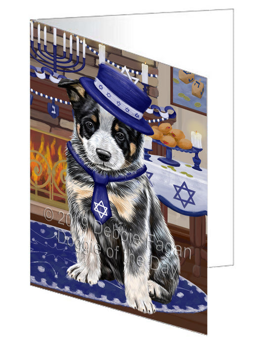 Happy Hanukkah Australian Cattle Dog Greeting Card GCD78269