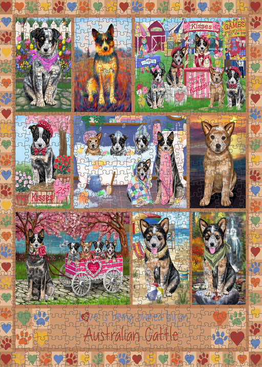 Love is Being Owned Australian Cattle Dog Beige Puzzle with Photo Tin PUZL98196