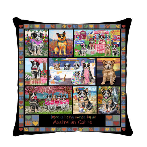 Love is Being Owned Australian Cattle Dog Grey Pillow PIL84584