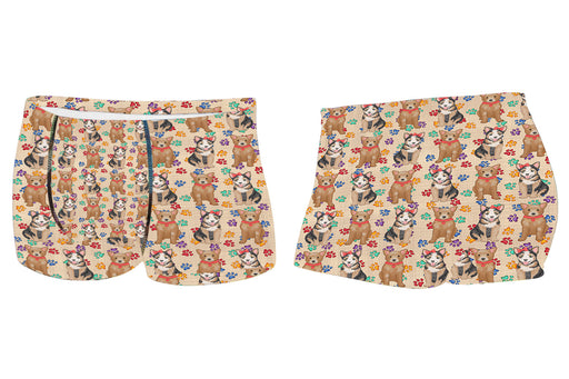 Rainbow Paw Print Australian Cattle Dogs RedMen's All Over Print Boxer Briefs