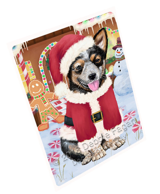 Christmas Gingerbread House Candyfest Australian Cattle Dog Large Refrigerator / Dishwasher Magnet RMAG99138