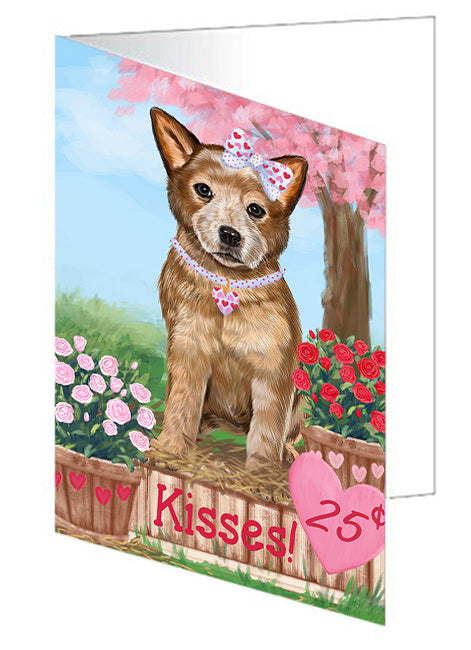 Rosie 25 Cent Kisses Australian Cattle Dog Note Card NCD71906