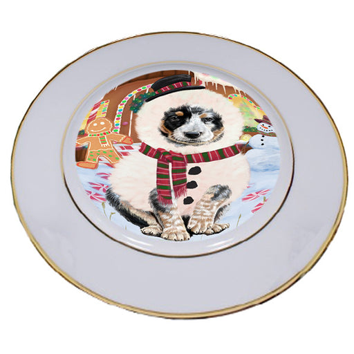 Christmas Gingerbread House Candyfest Australian Cattle Dog Porcelain Plate PLT54495