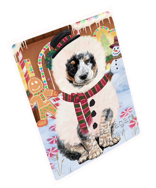 Christmas Gingerbread House Candyfest Australian Cattle Dog Large Refrigerator / Dishwasher Magnet RMAG99144