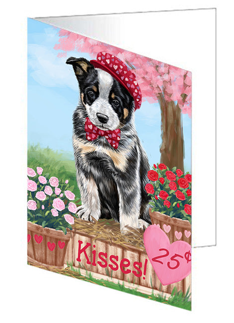 Rosie 25 Cent Kisses Australian Cattle Dog Note Card NCD71912