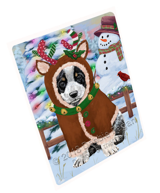 Christmas Gingerbread House Candyfest Australian Cattle Dog Large Refrigerator / Dishwasher Magnet RMAG99150
