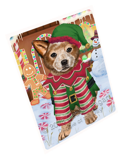 Christmas Gingerbread House Candyfest Australian Cattle Dog Large Refrigerator / Dishwasher Magnet RMAG99156