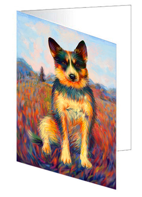 Mystic Blaze Australian Cattle Dog Note Card NCD64739