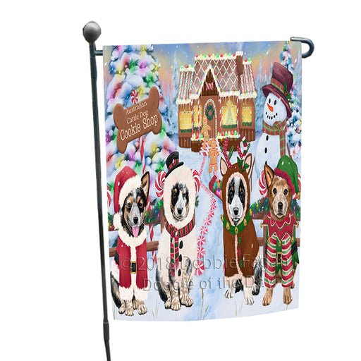 Holiday Gingerbread Cookie Shop Australian Cattle Dogs Garden Flag GFLG56645