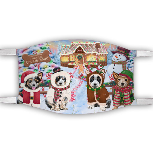 Holiday Gingerbread Cookie Australian Cattle Dogs Shop Face Mask FM48860