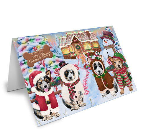 Holiday Gingerbread Cookie Shop Australian Cattle Dogs Note Card NCD72806