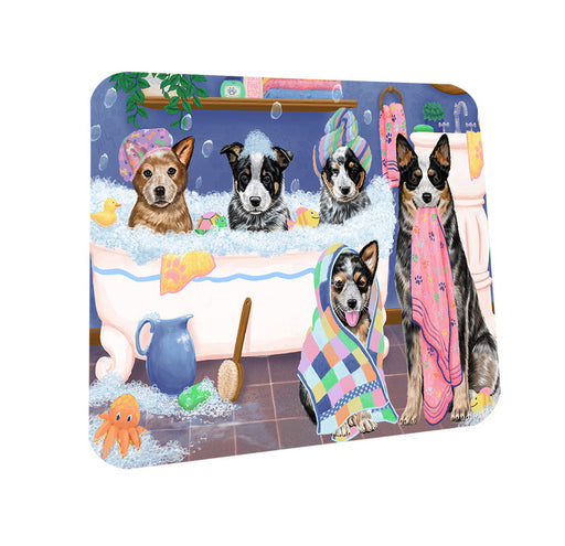 Rub A Dub Dogs In A Tub Australian Cattle Dogs Coasters Set of 4 CST56713