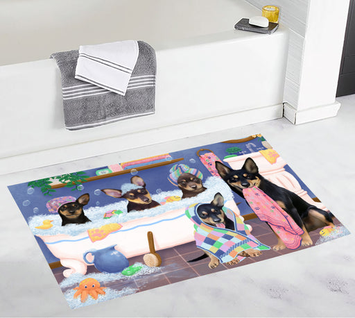 Rub A Dub Dogs In A Tub Australian Kelpies Dogs Bath Mat