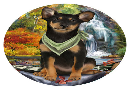 Scenic Waterfall Australian Kelpie Dog Oval Envelope Seals OVE63224