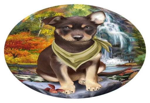 Scenic Waterfall Australian Kelpie Dog Oval Envelope Seals OVE63228