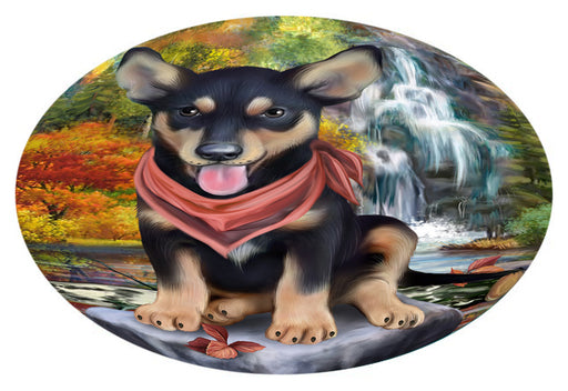 Scenic Waterfall Australian Kelpie Dog Oval Envelope Seals OVE63232