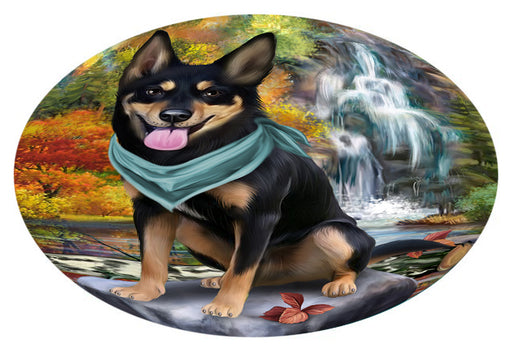 Scenic Waterfall Australian Kelpie Dog Oval Envelope Seals OVE63240