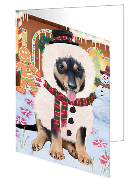 Christmas Gingerbread House Candyfest Australian Kelpie Dog Note Card NCD72962