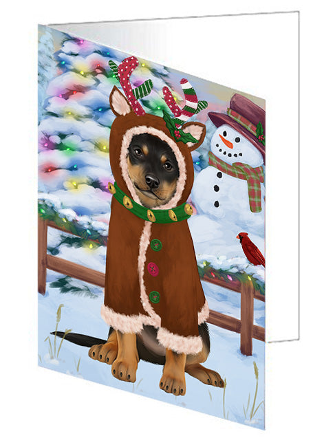 Christmas Gingerbread House Candyfest Australian Kelpie Dog Note Card NCD72965
