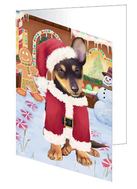 Christmas Gingerbread House Candyfest Australian Kelpie Dog Note Card NCD72971
