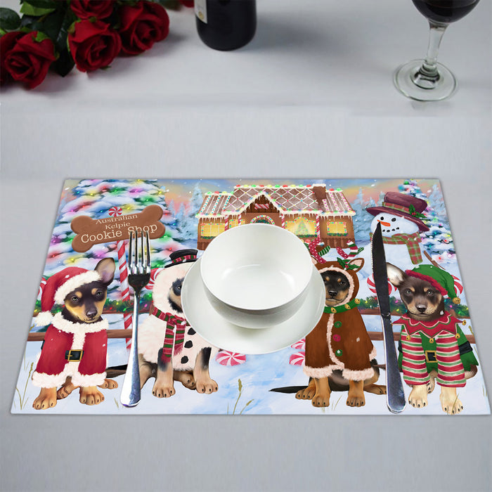 Holiday Gingerbread Cookie Australian Kelpies Dogs Placemat