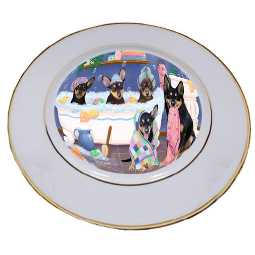 Rub A Dub Dogs In A Tub Australian Kelpies Dog Porcelain Plate PLT55105