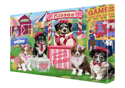 Carnival Kissing Booth Australian Shepherds Dog Canvas Print Wall Art Décor CVS124217
