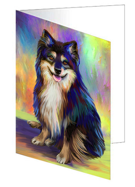 Pardise Wave Australian Shepherd Dog Note Card NCD64808