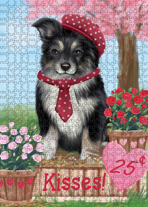 Rosie 25 Cent Kisses Australian Shepherd Dog Puzzle with Photo Tin PUZL91252
