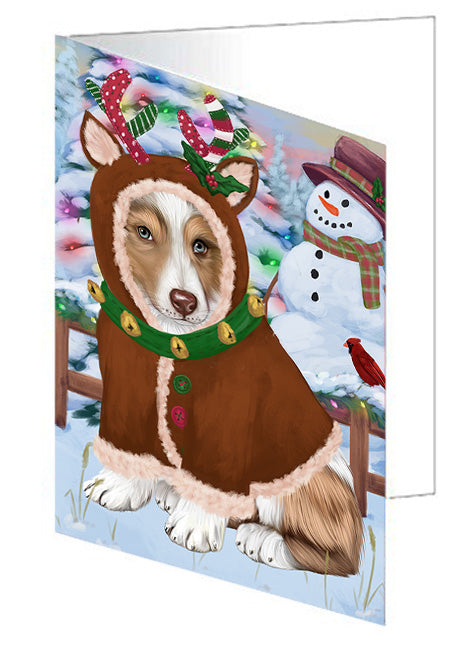 Christmas Gingerbread House Candyfest Australian Shepherd Dog Note Card NCD72980