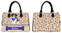 Custom Personalized Blue Paw Print Australian Shepherd Dog Euramerican Tote Bag Australian Shepherd Dog Boston Handbag