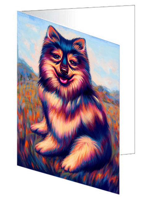 Mystic Blaze Australian Shepherd Dog Note Card NCD64748
