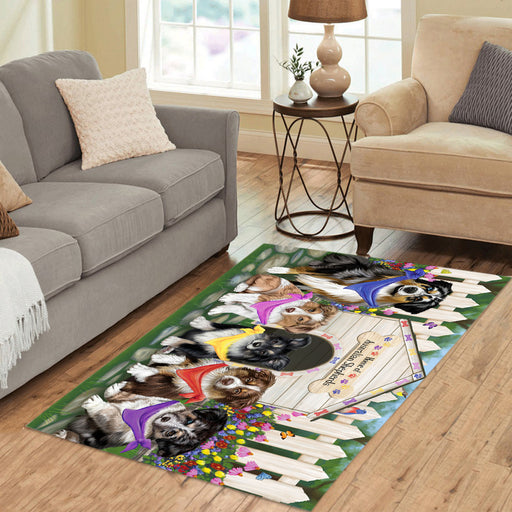 Spring Dog House Australian Shepherd Dogs Area Rug