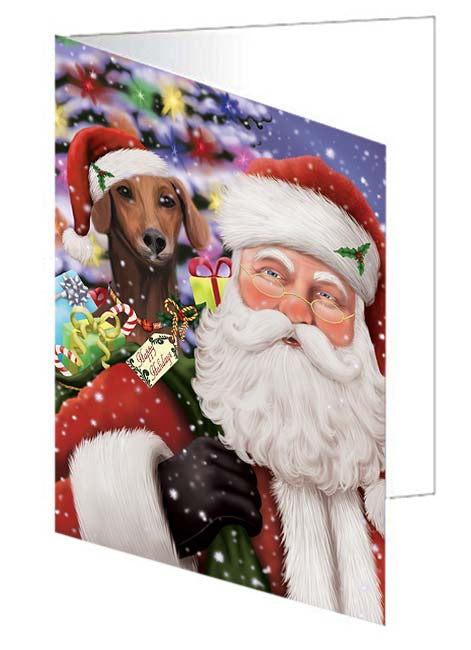 Santa Carrying Azawakh Dog and Christmas Presents Greeting Card GCD70961