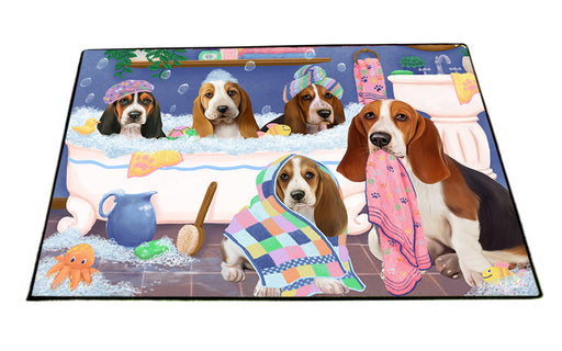 Rub A Dub Dogs In A Tub Basset Hounds Dog Floormat FLMS53460
