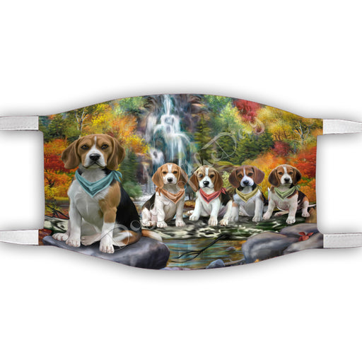 Scenic Waterfall Beagle Dogs Face Mask FM49270