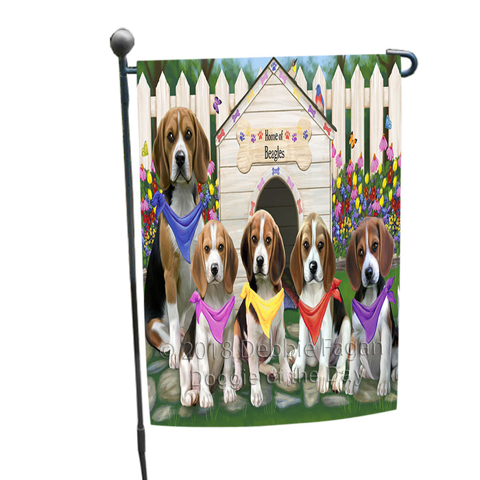 Spring Dog House Beagles Dog Garden Flag GFLG49612