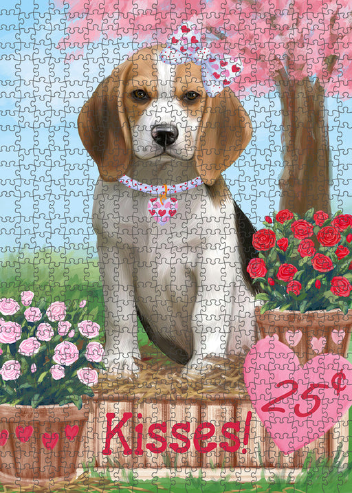 Rosie 25 Cent Kisses Beagle Dog Puzzle with Photo Tin PUZL91440