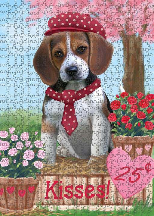 Rosie 25 Cent Kisses Beagle Dog Puzzle with Photo Tin PUZL91444