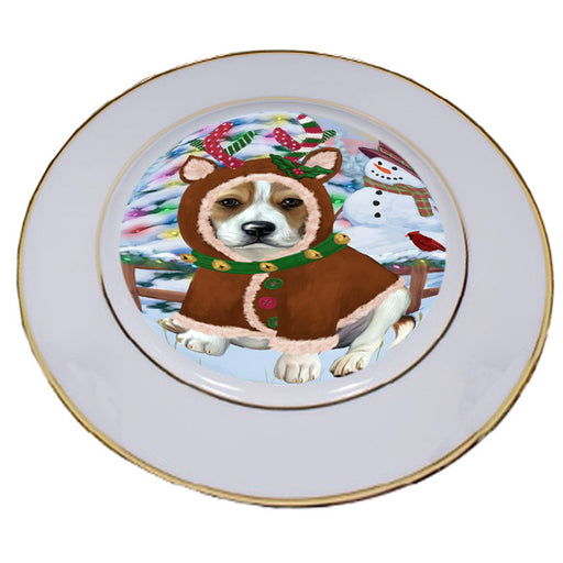 Christmas Gingerbread House Candyfest Beagle Dog Porcelain Plate PLT54516