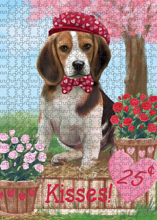 Rosie 25 Cent Kisses Beagle Dog Puzzle with Photo Tin PUZL91448