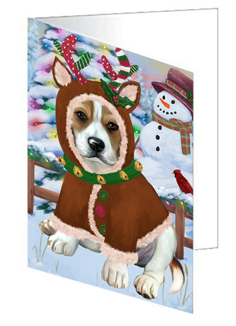 Christmas Gingerbread House Candyfest Beagle Dog Note Card NCD73016
