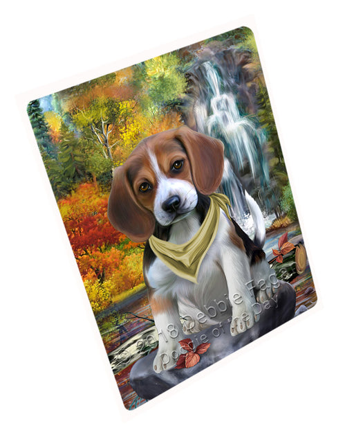 "Scenic Waterfall Beagle Dog Magnet Mini (3.5"" x 2"") MAG59709"