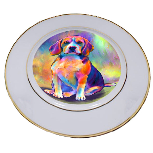 Paradise Wave Beagle Dog Porcelain Plate PLT55041