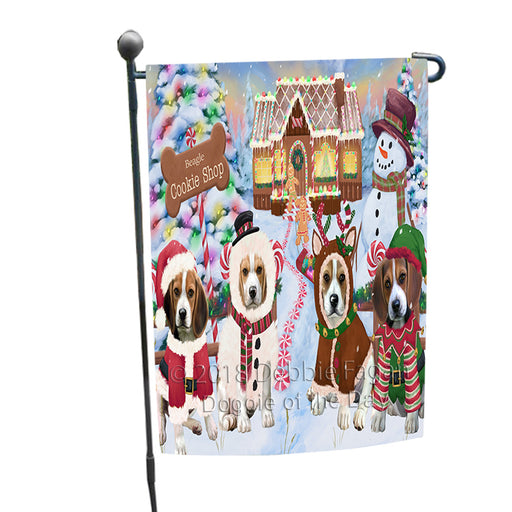 Holiday Gingerbread Cookie Shop Beagles Dog Garden Flag GFLG56650