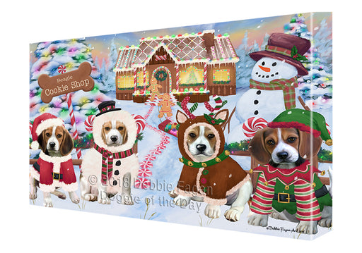 Holiday Gingerbread Cookie Shop Beagles Dog Canvas Print Wall Art Décor CVS127142