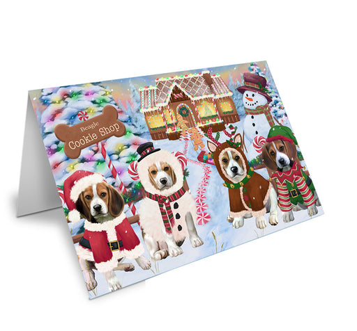 Holiday Gingerbread Cookie Shop Beagles Dog Note Card NCD72821